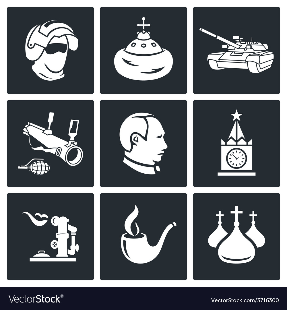 Russia icons set vector | Price: 1 Credit (USD $1)