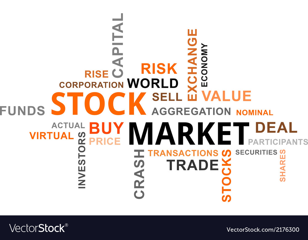 Word cloud stock market vector | Price: 1 Credit (USD $1)