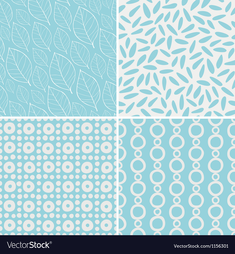 Abstract and floral seamless patterns vector | Price: 1 Credit (USD $1)