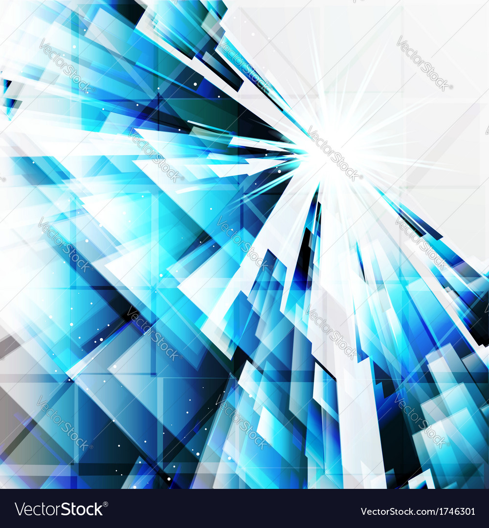 Abstract turquoise design elements on a light vector | Price: 1 Credit (USD $1)