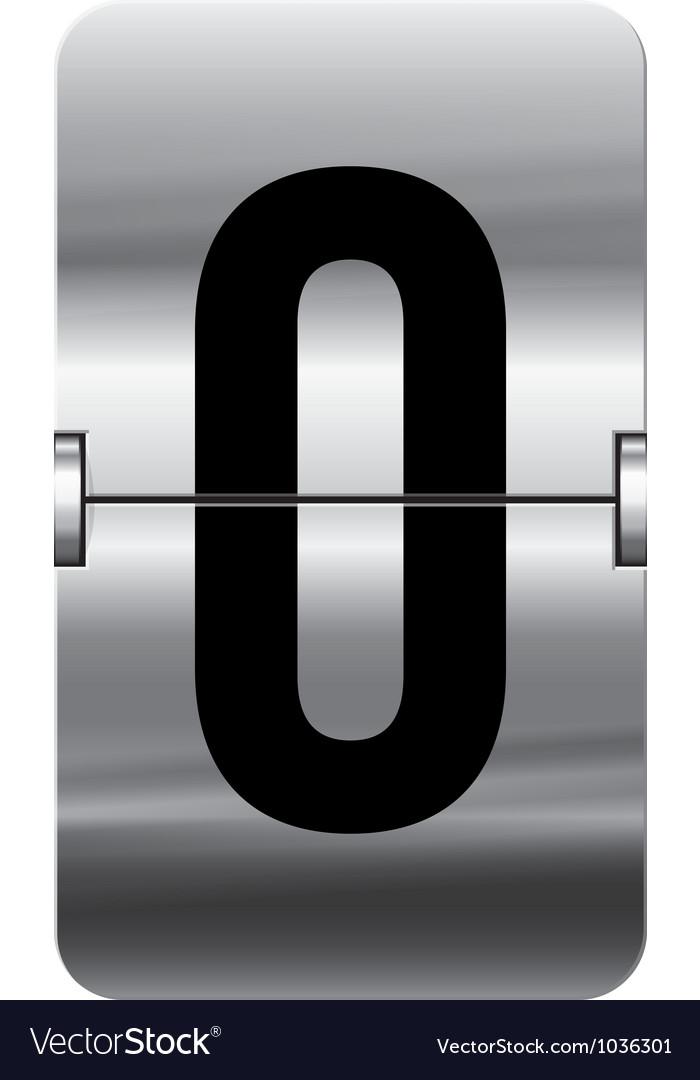 Alphabet silver flipboard letters 0 vector | Price: 1 Credit (USD $1)