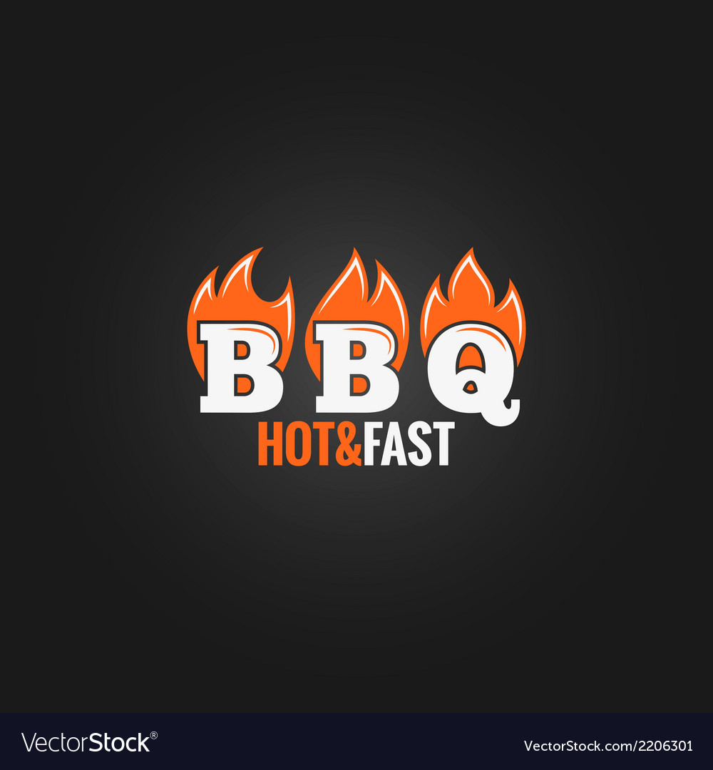 Barbecue fire sign design background vector | Price: 1 Credit (USD $1)