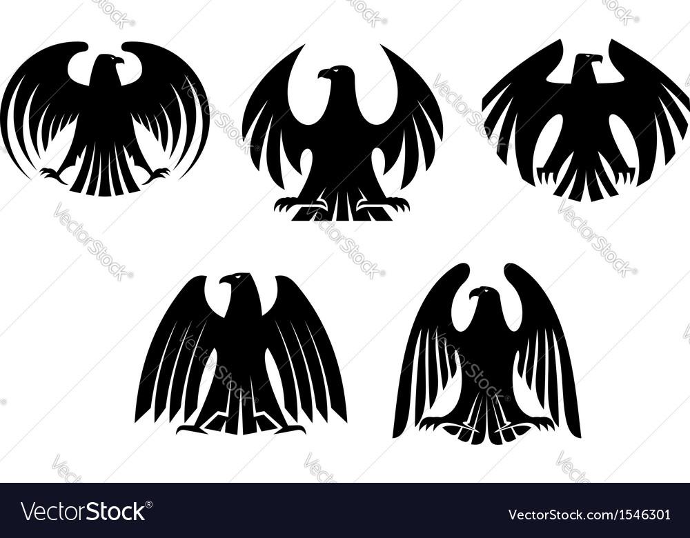 Black heraldic eagles vector | Price: 1 Credit (USD $1)