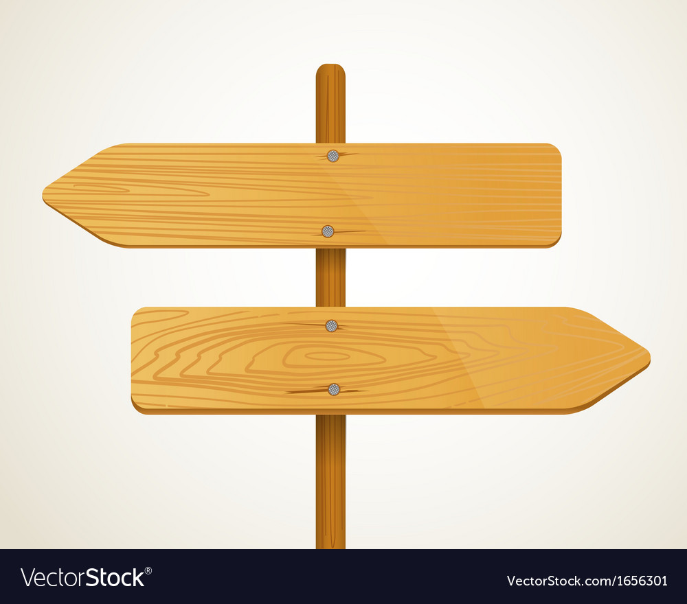 Blank wood arrow boarders vector | Price: 1 Credit (USD $1)