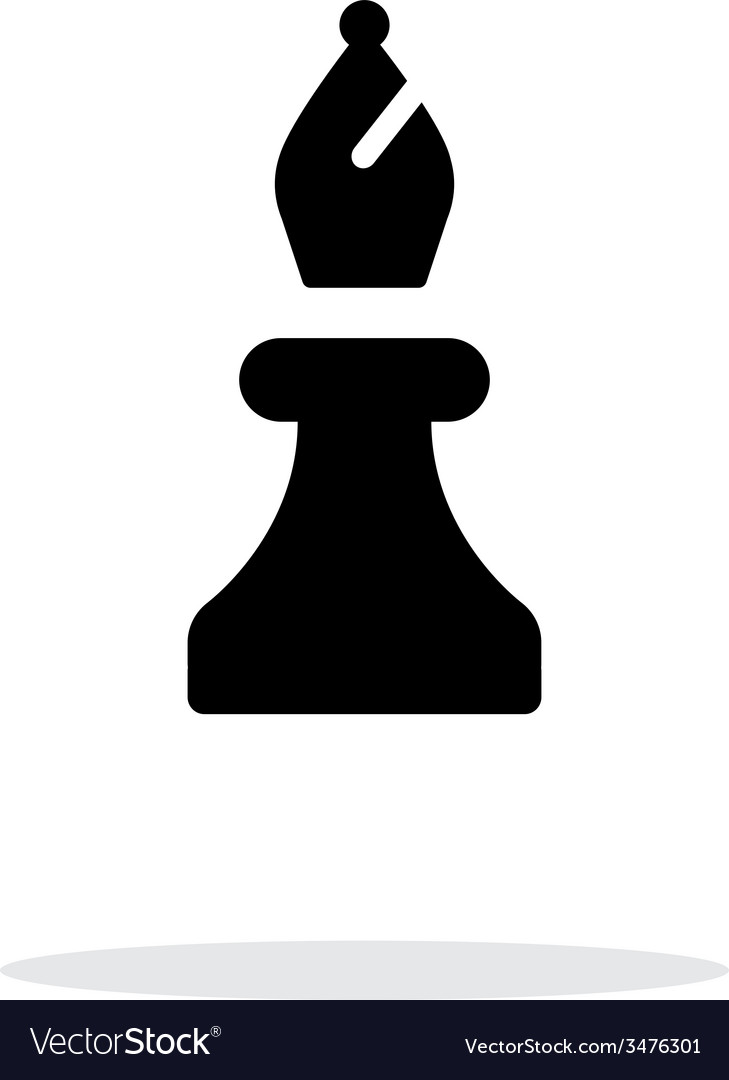 Chess bishop simple icon on white background vector | Price: 1 Credit (USD $1)