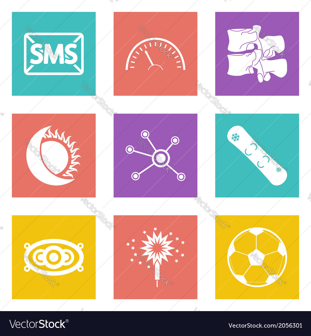 Color icons for web design set 40 vector | Price: 1 Credit (USD $1)
