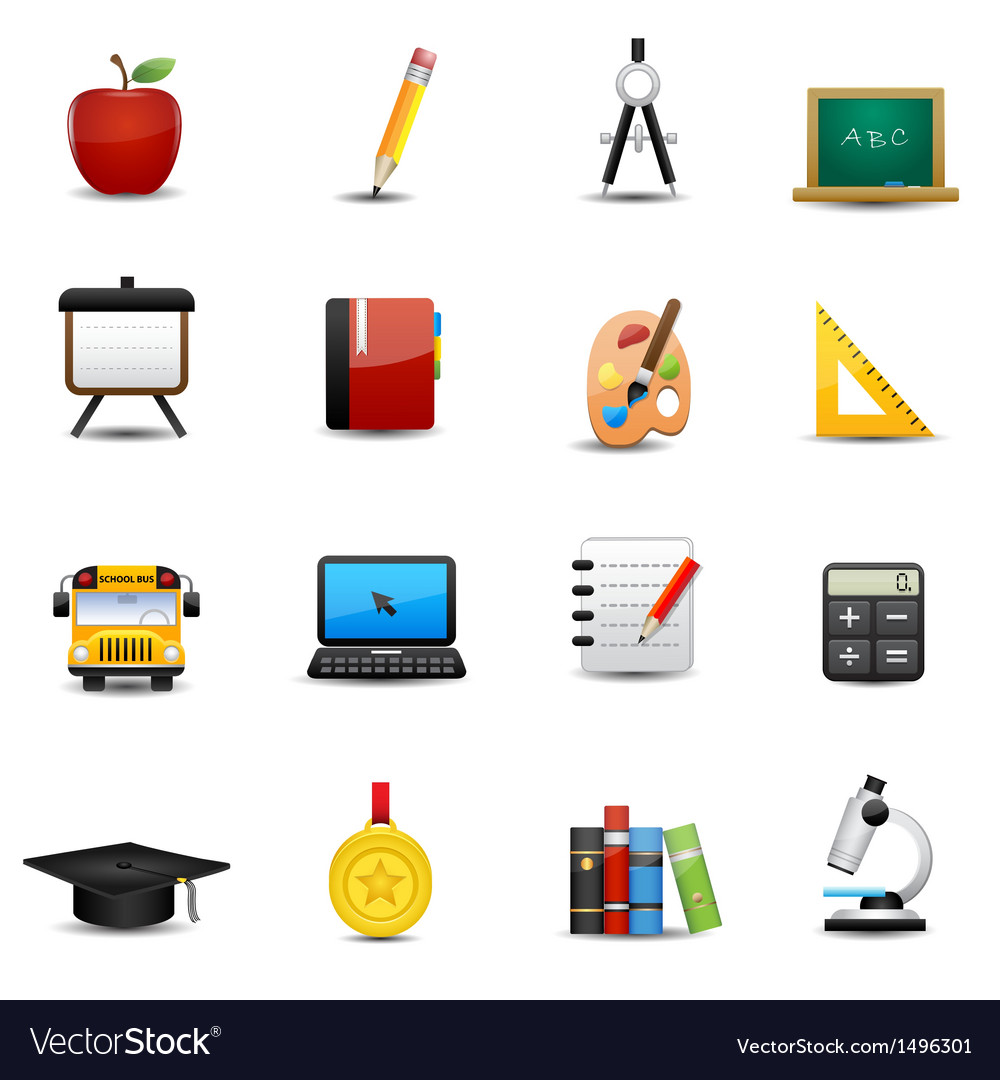 Education icons set vector | Price: 3 Credit (USD $3)