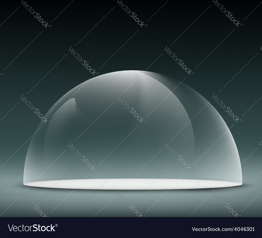 Glass dome on a dark background vector | Price: 1 Credit (USD $1)