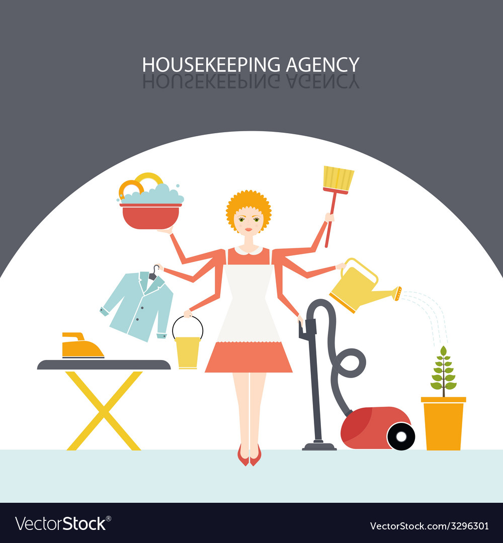 Housekeeping agency vector | Price: 1 Credit (USD $1)