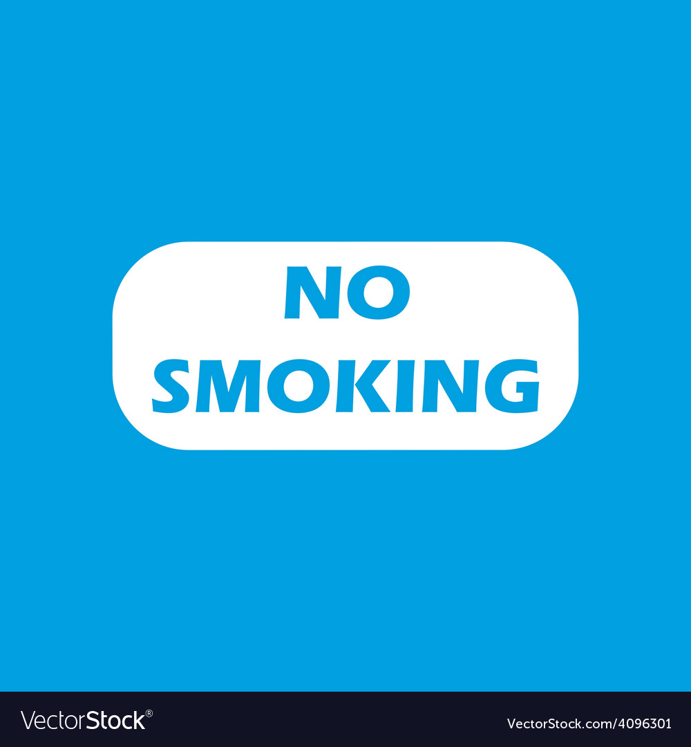 No smoking white icon vector | Price: 1 Credit (USD $1)