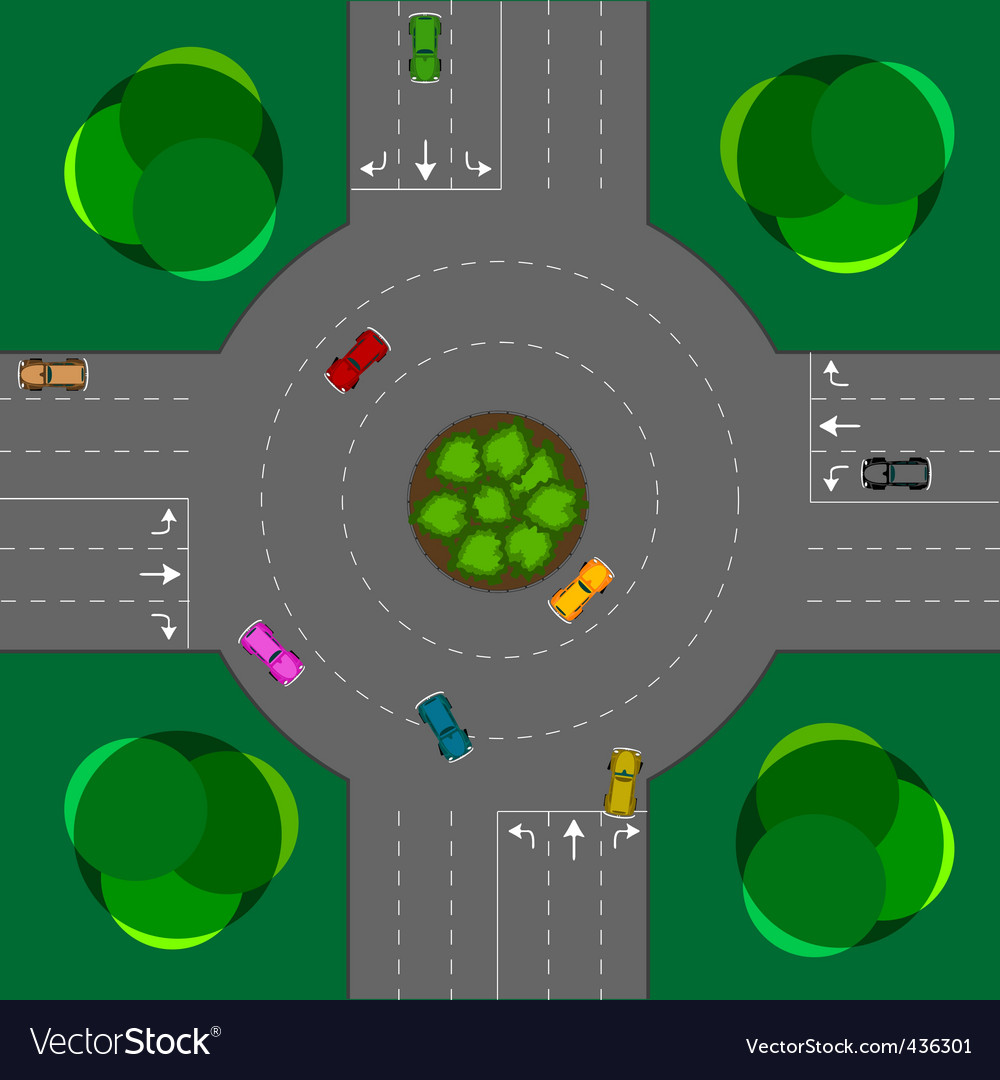 Round intersection vector | Price: 1 Credit (USD $1)