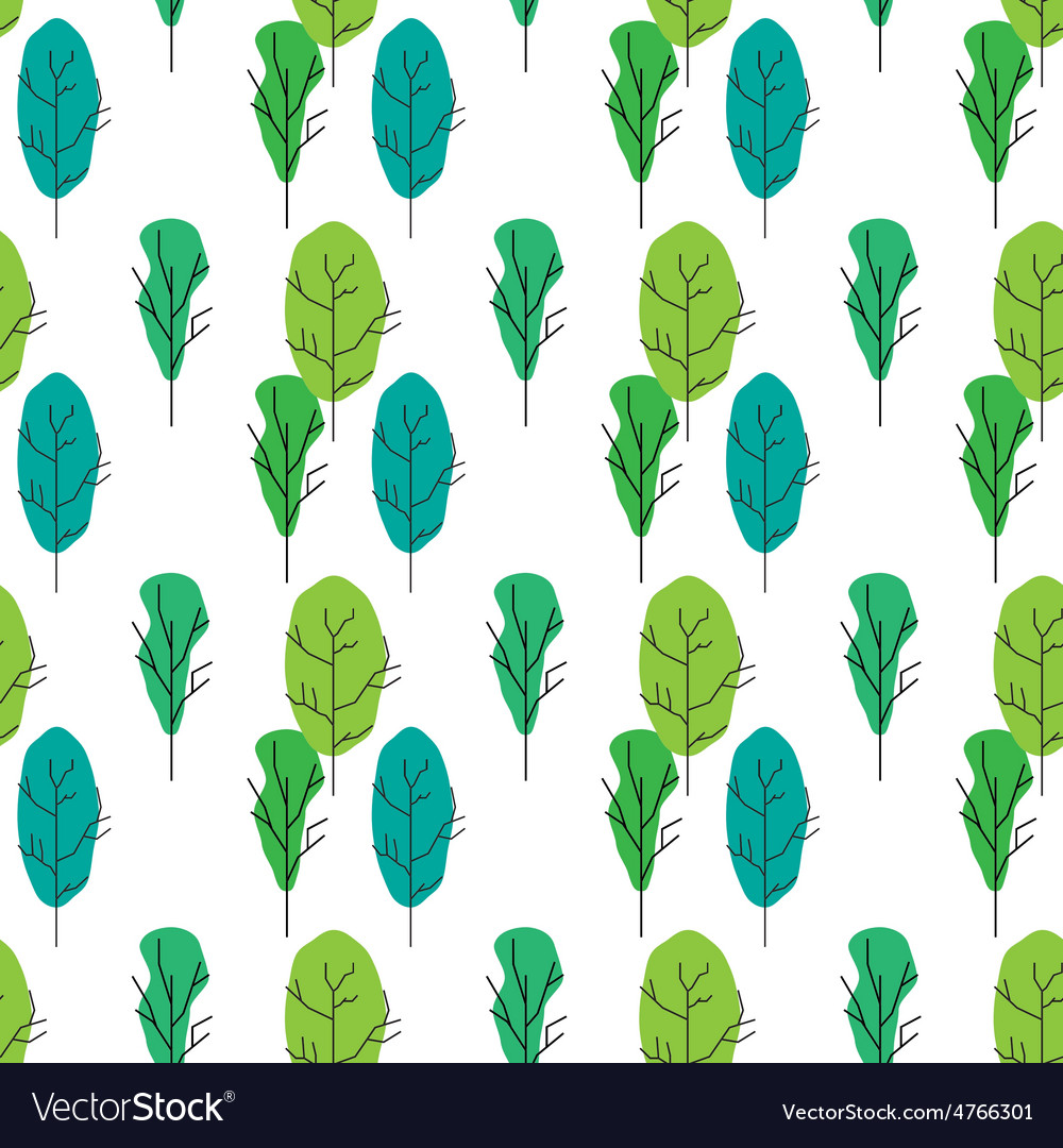 Seamless tree pattern background vector | Price: 1 Credit (USD $1)