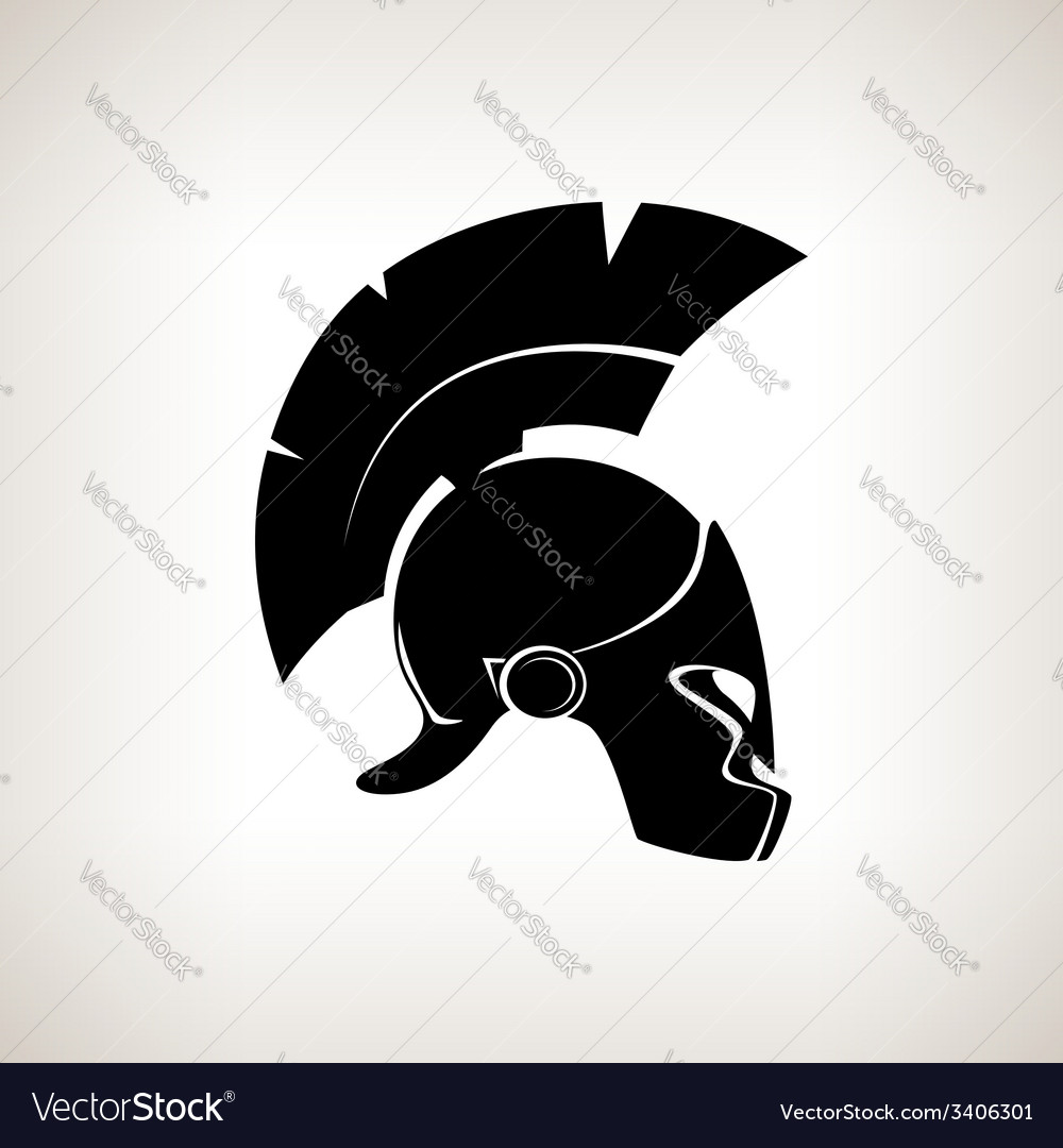 Silhouette helmet on a light background vector | Price: 1 Credit (USD $1)