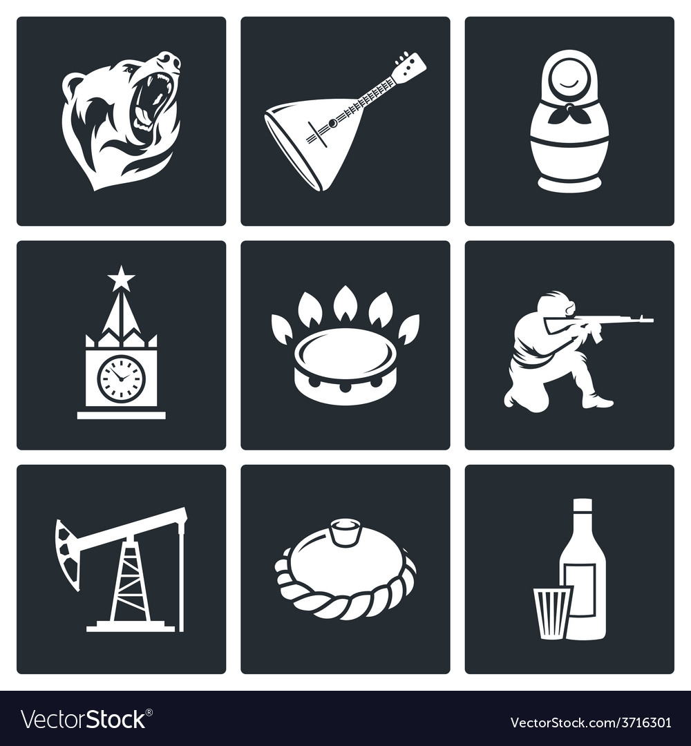 This is russia icons set vector | Price: 1 Credit (USD $1)