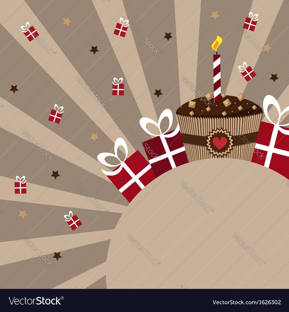 Birthday card chocolate vector   Price: 1 Credit (USD $1)