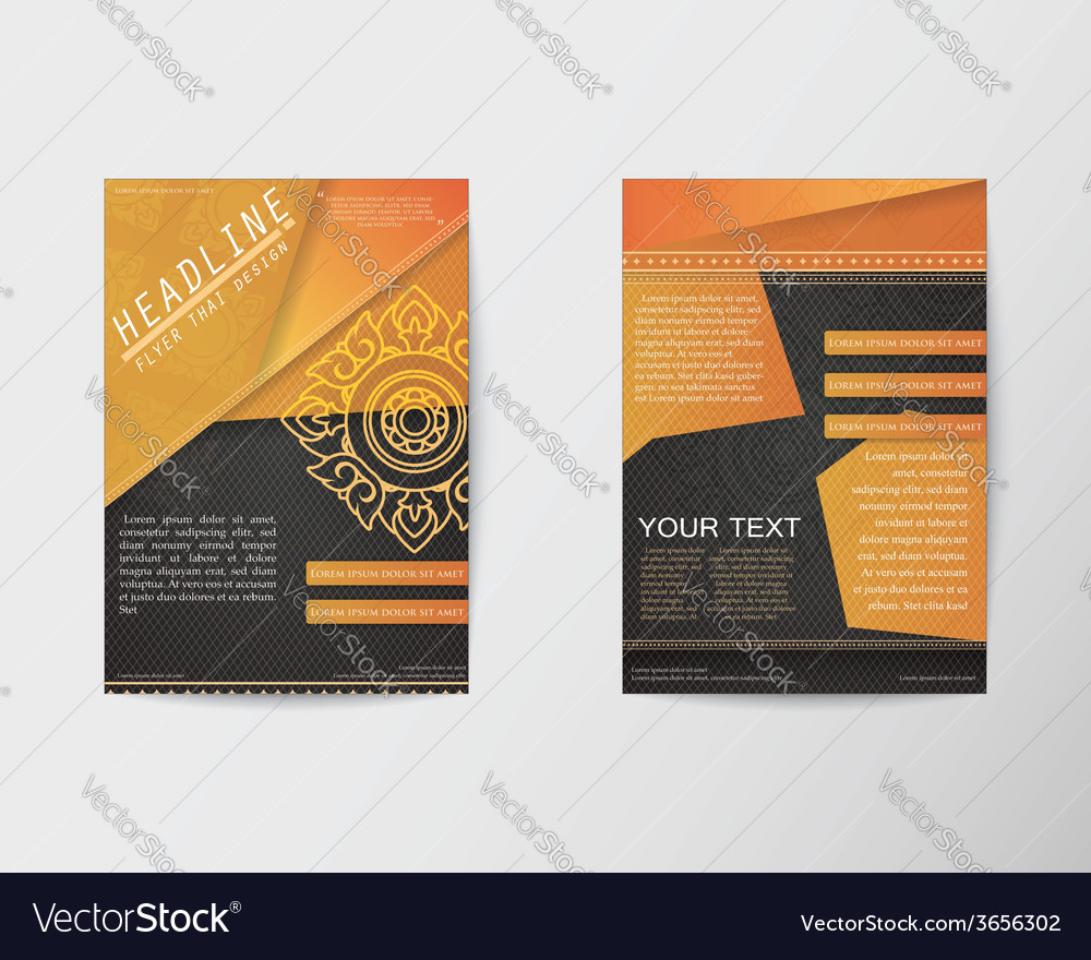 Brochure flyer thai style template in a4 size vector | Price: 1 Credit (USD $1)