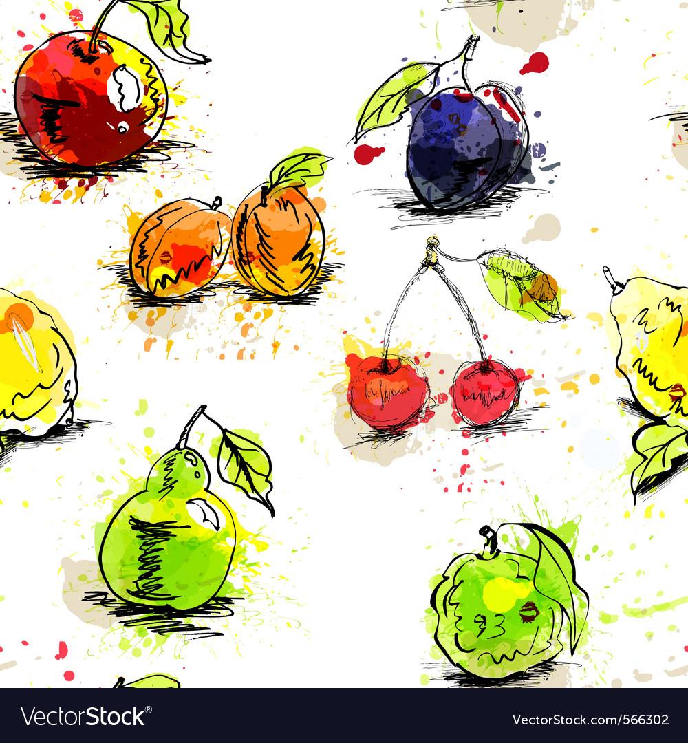Fruit wallpaper vector | Price: 1 Credit (USD $1)