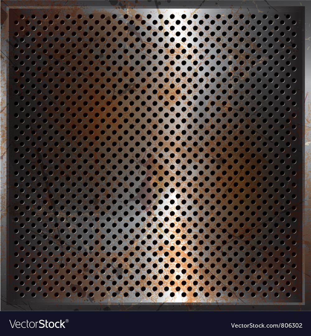 Grunge perforated metal background vector | Price: 1 Credit (USD $1)