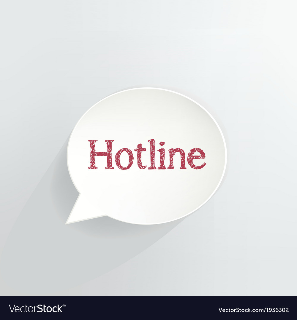 Hotline vector   Price: 1 Credit (USD $1)