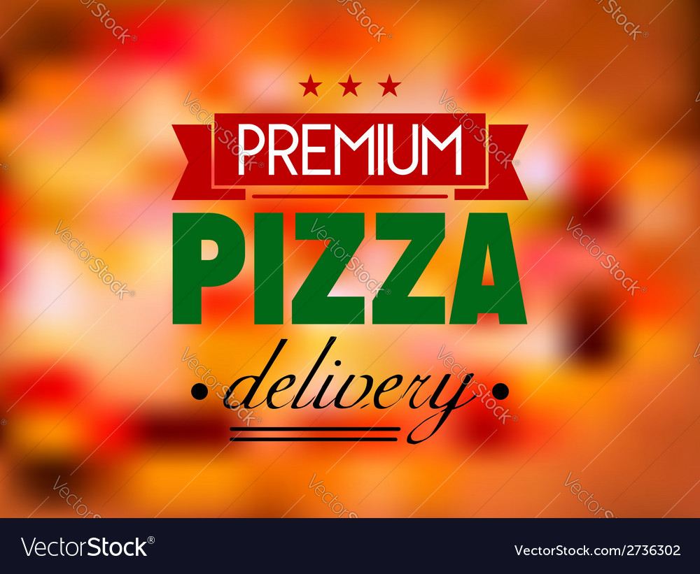 Italian pizza restaurant label or logo vector | Price: 1 Credit (USD $1)