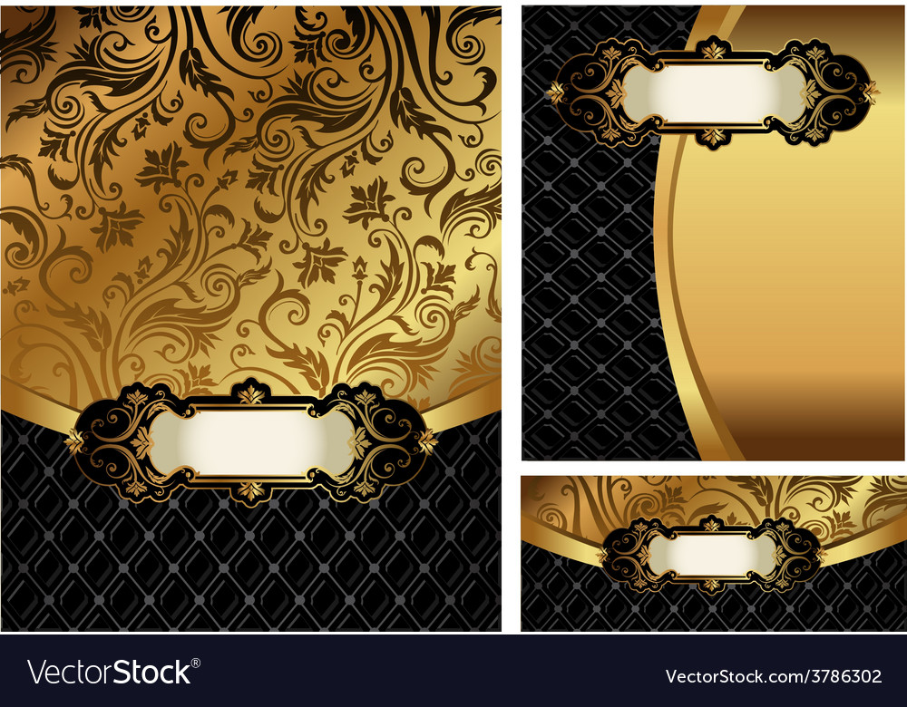 Ornate golden menu cover vector | Price: 1 Credit (USD $1)