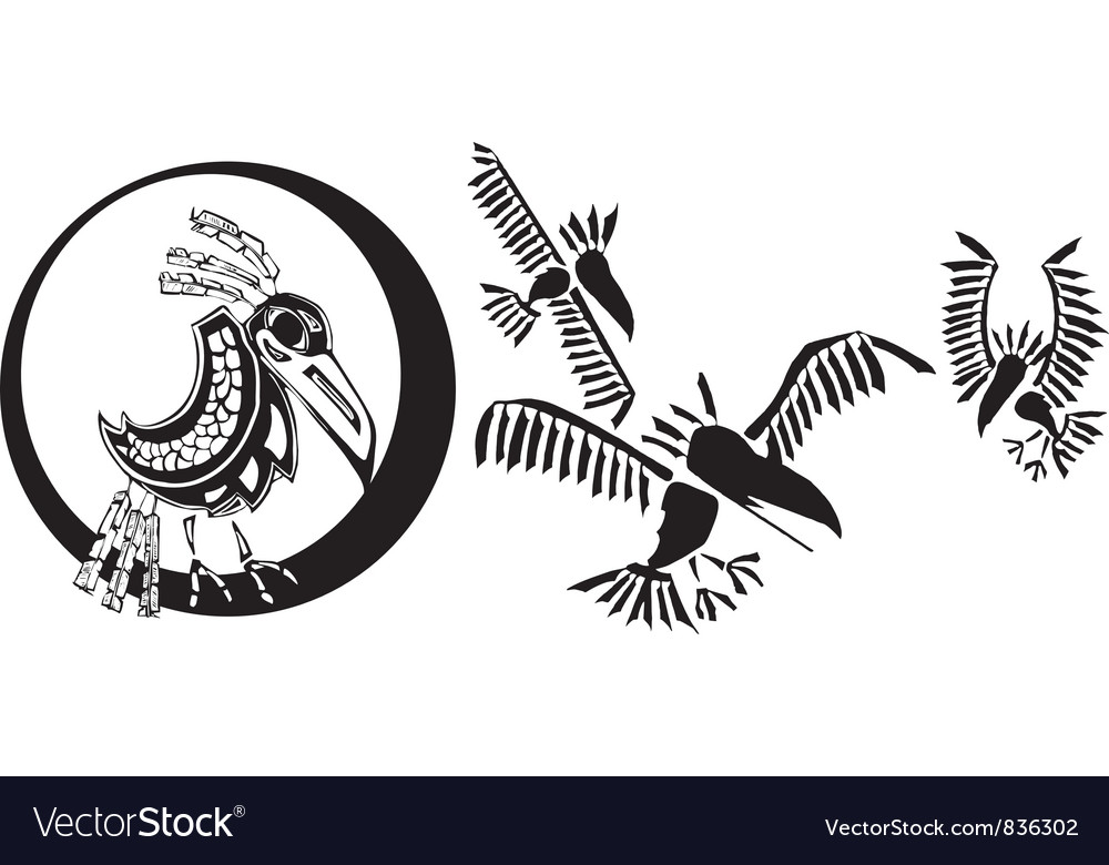 Raven and shadows vector | Price: 1 Credit (USD $1)