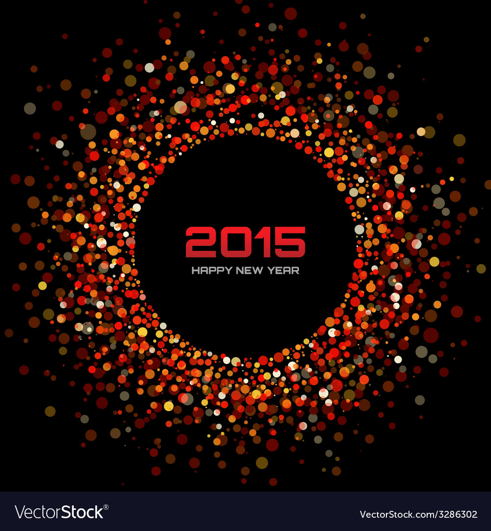 Red bright new year 2015 background vector | Price: 1 Credit (USD $1)