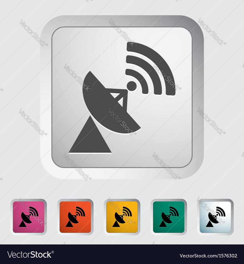 Satellite antenna vector | Price: 1 Credit (USD $1)