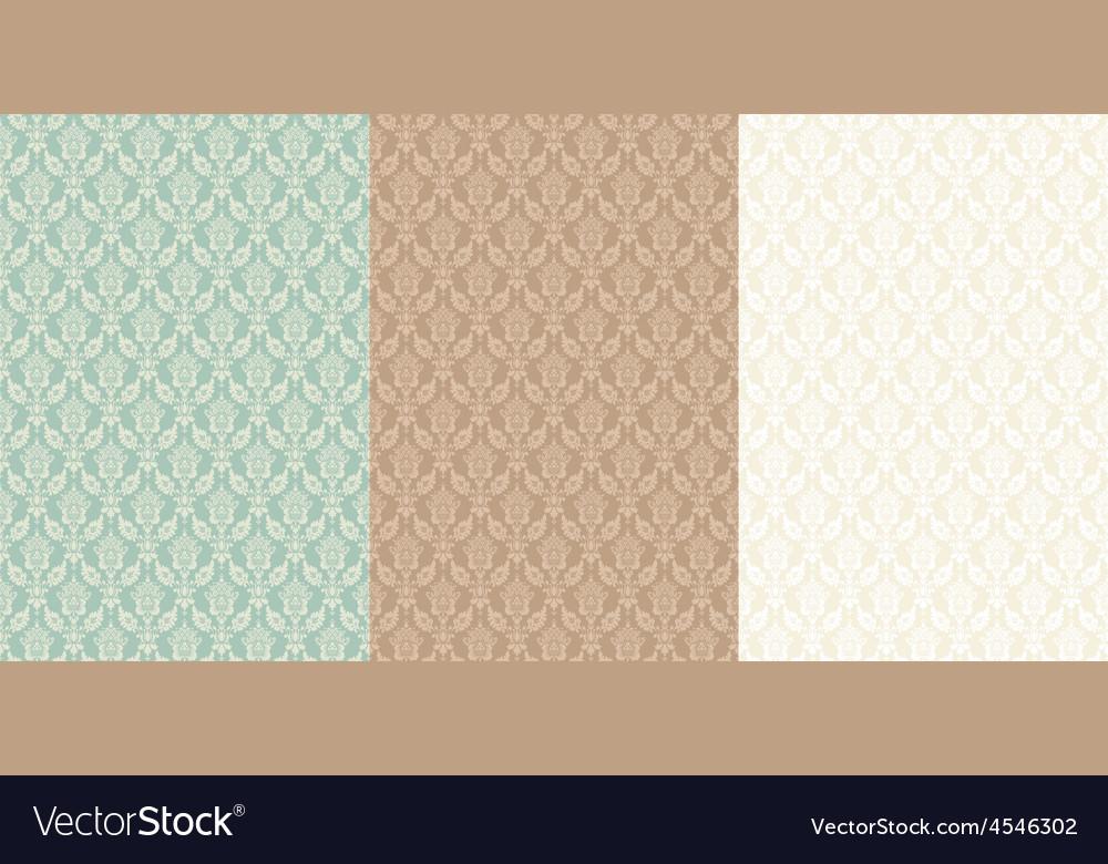 Set pattern vintage seamless old royal desktop vector | Price: 1 Credit (USD $1)
