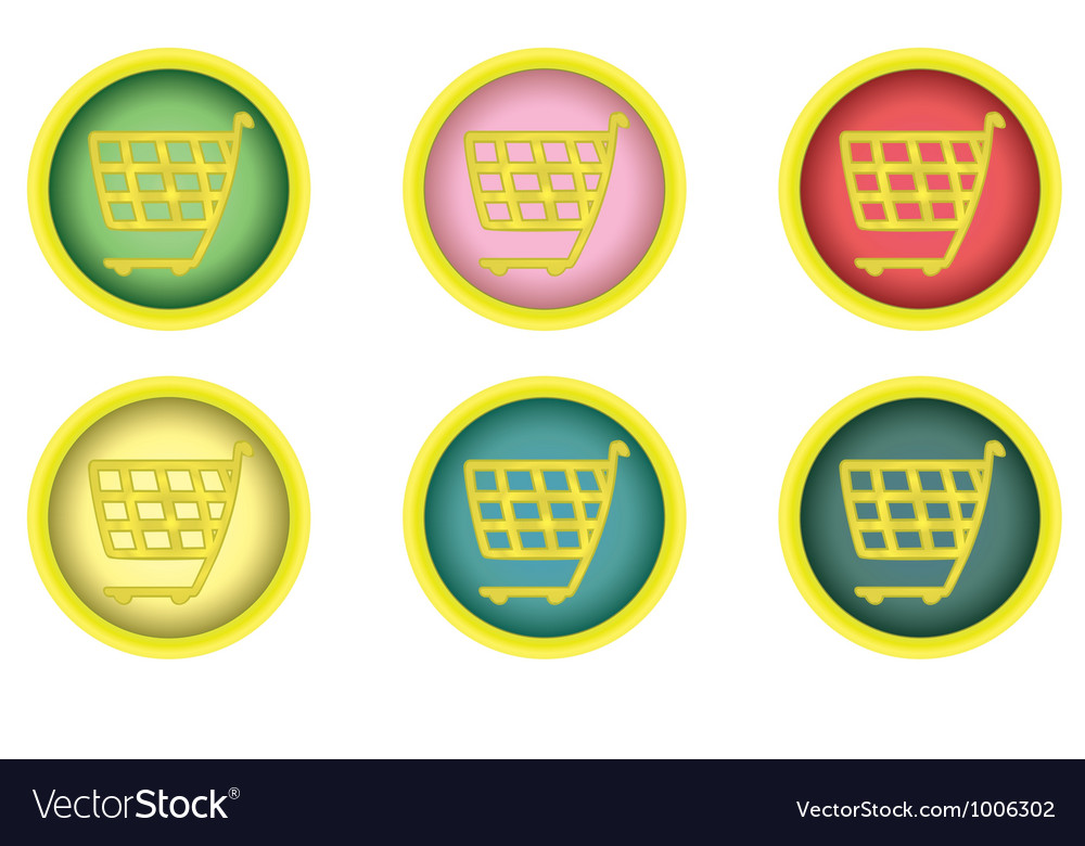 Shopping cart buttons vector | Price: 1 Credit (USD $1)