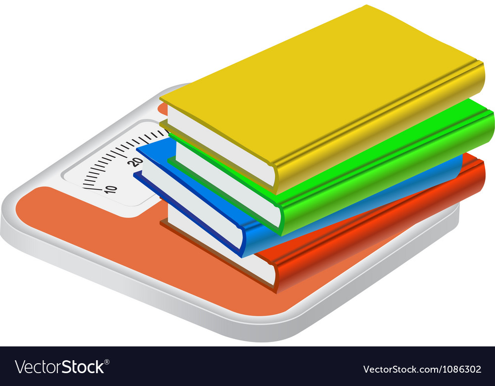 The weight of knowledge concept isolated on wight vector | Price: 1 Credit (USD $1)
