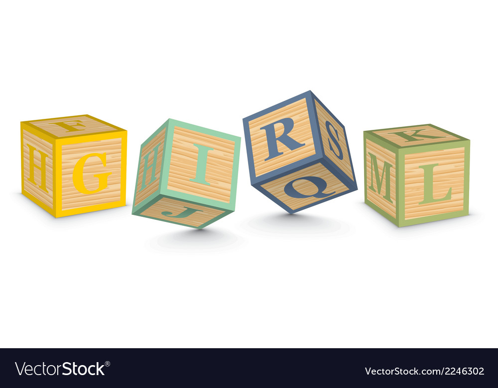 Word girl written with alphabet blocks vector | Price: 1 Credit (USD $1)