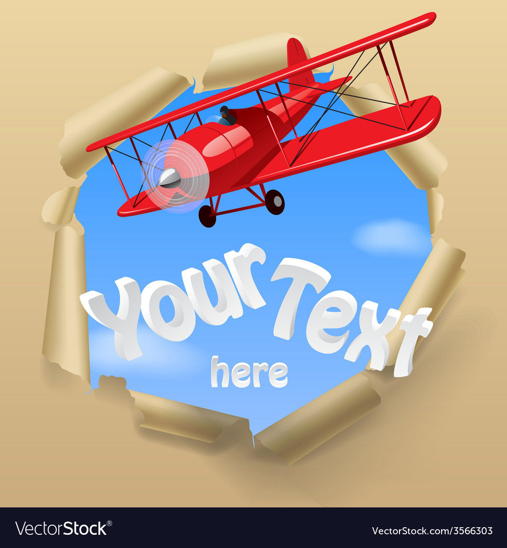 Airplane with a banner vector | Price: 1 Credit (USD $1)