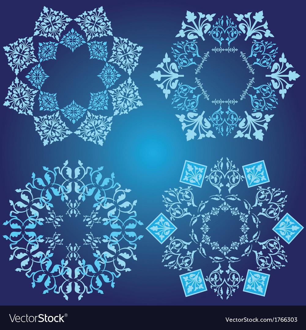Blue design element vector | Price: 1 Credit (USD $1)
