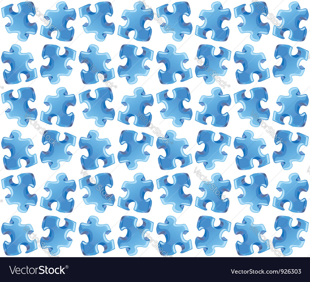 Blue puzzle seamless background vector | Price: 1 Credit (USD $1)