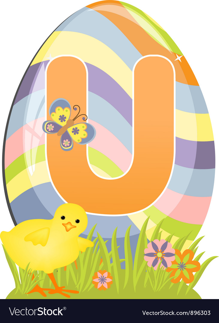 Cute initial letter u vector | Price: 1 Credit (USD $1)