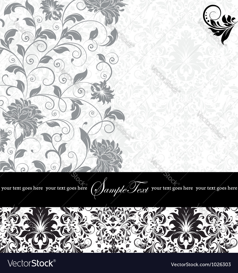 Gray damask card vector | Price: 1 Credit (USD $1)