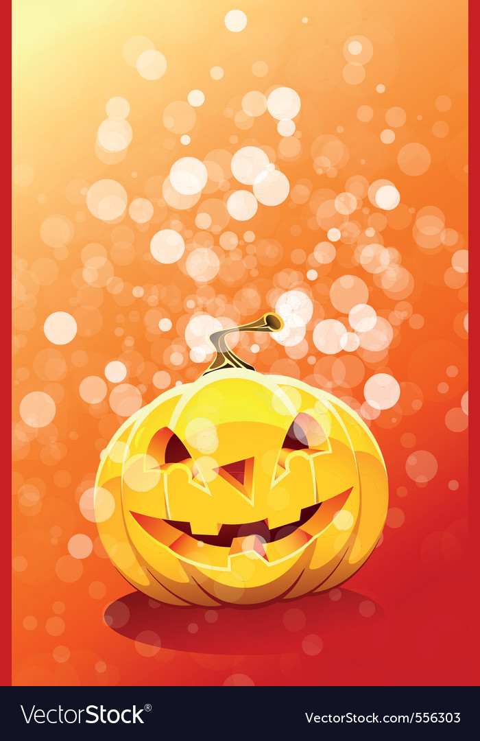 Halloween background with pumpkin vector | Price: 3 Credit (USD $3)