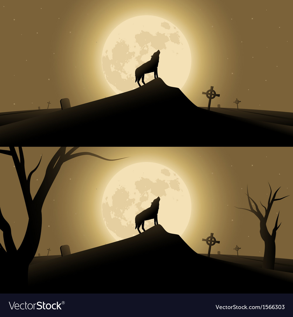 Halloween background with werewolf vector | Price: 1 Credit (USD $1)