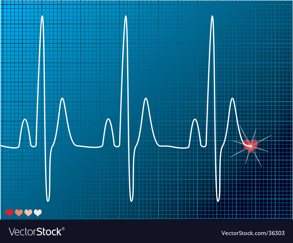 Heart beat medical vector | Price: 1 Credit (USD $1)