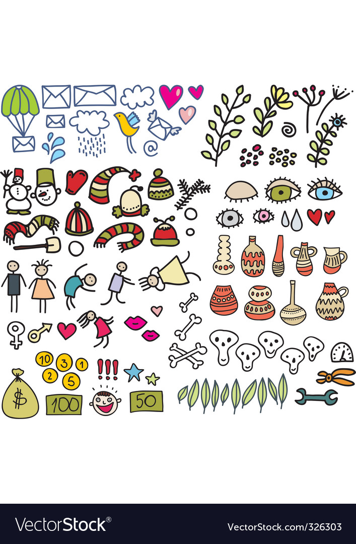 Icon drawings vector | Price: 1 Credit (USD $1)