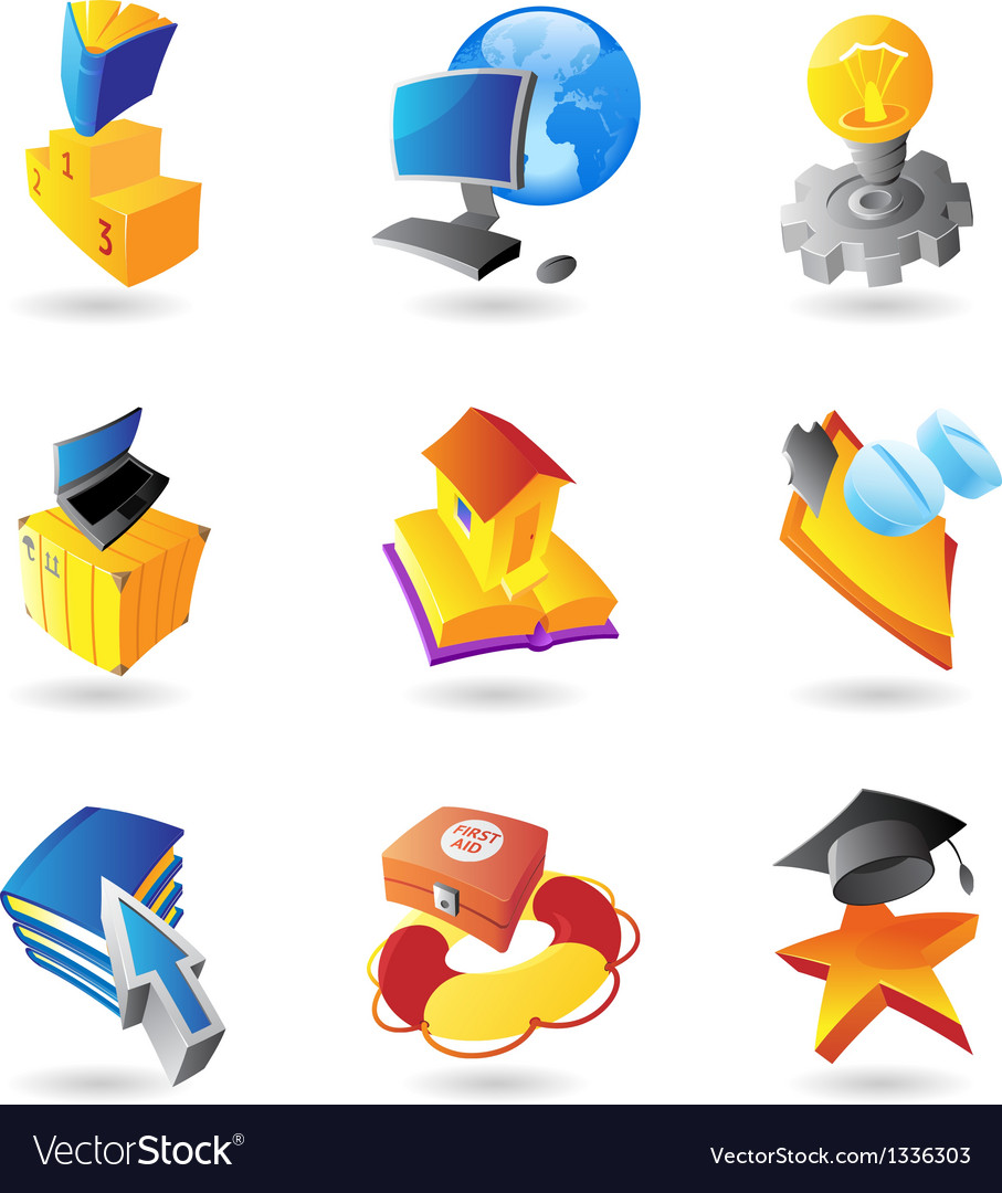 Icons for science and education vector | Price: 1 Credit (USD $1)