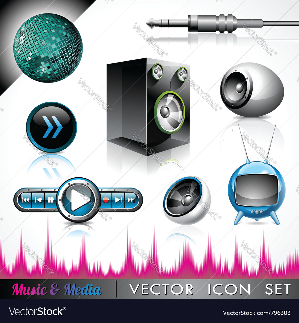Music and media vector | Price: 3 Credit (USD $3)