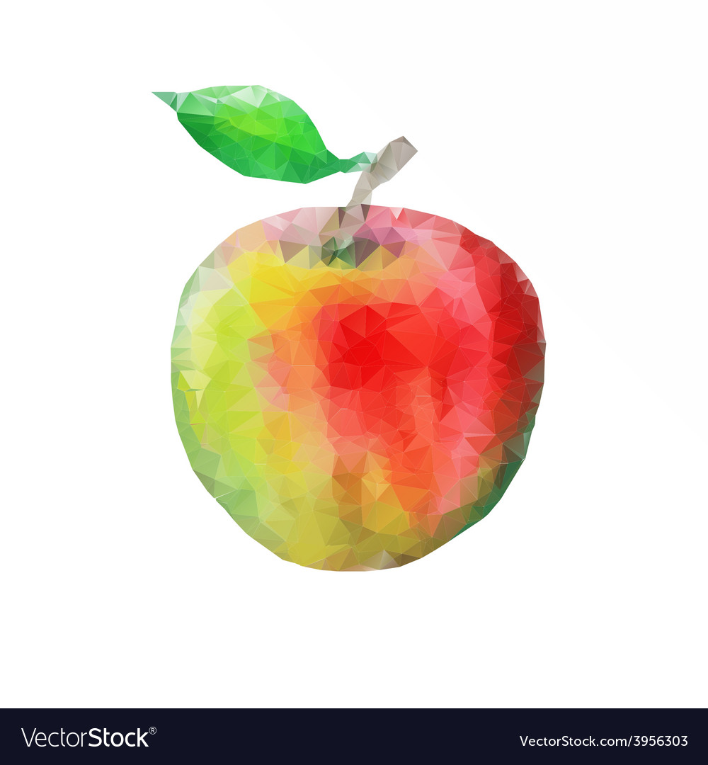 Ripe apple with leaf vector | Price: 1 Credit (USD $1)