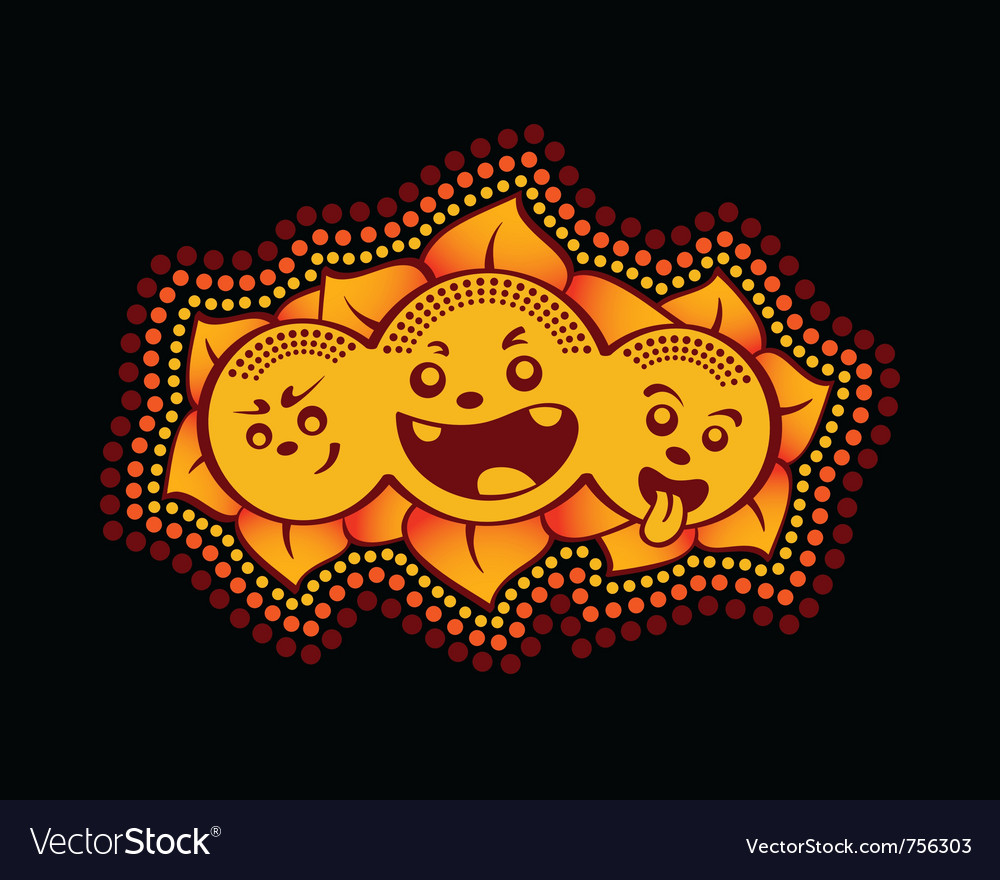 Sun gang graffiti vector | Price: 1 Credit (USD $1)