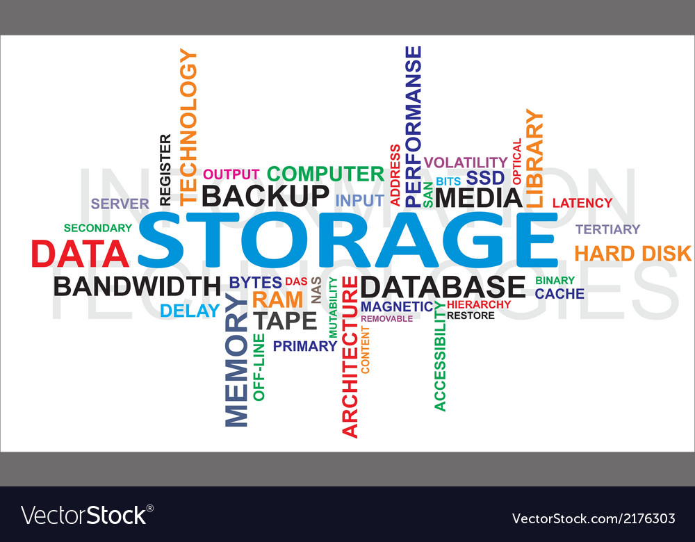 Word cloud storage vector | Price: 1 Credit (USD $1)