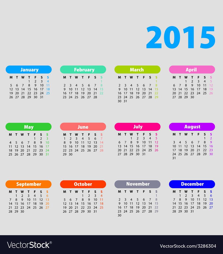 2015 calendar with bright bubbles vector | Price: 1 Credit (USD $1)
