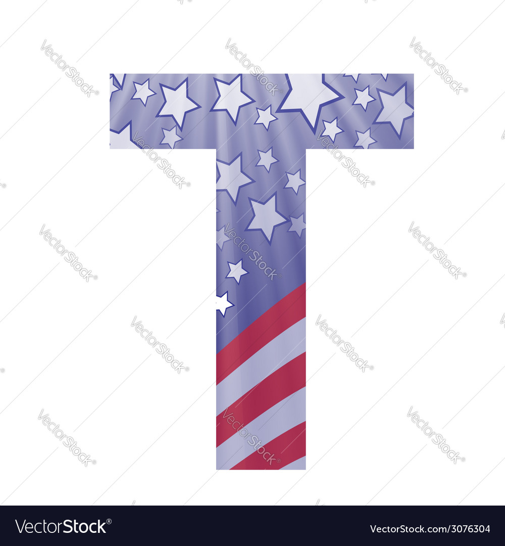 American letter t vector | Price: 1 Credit (USD $1)