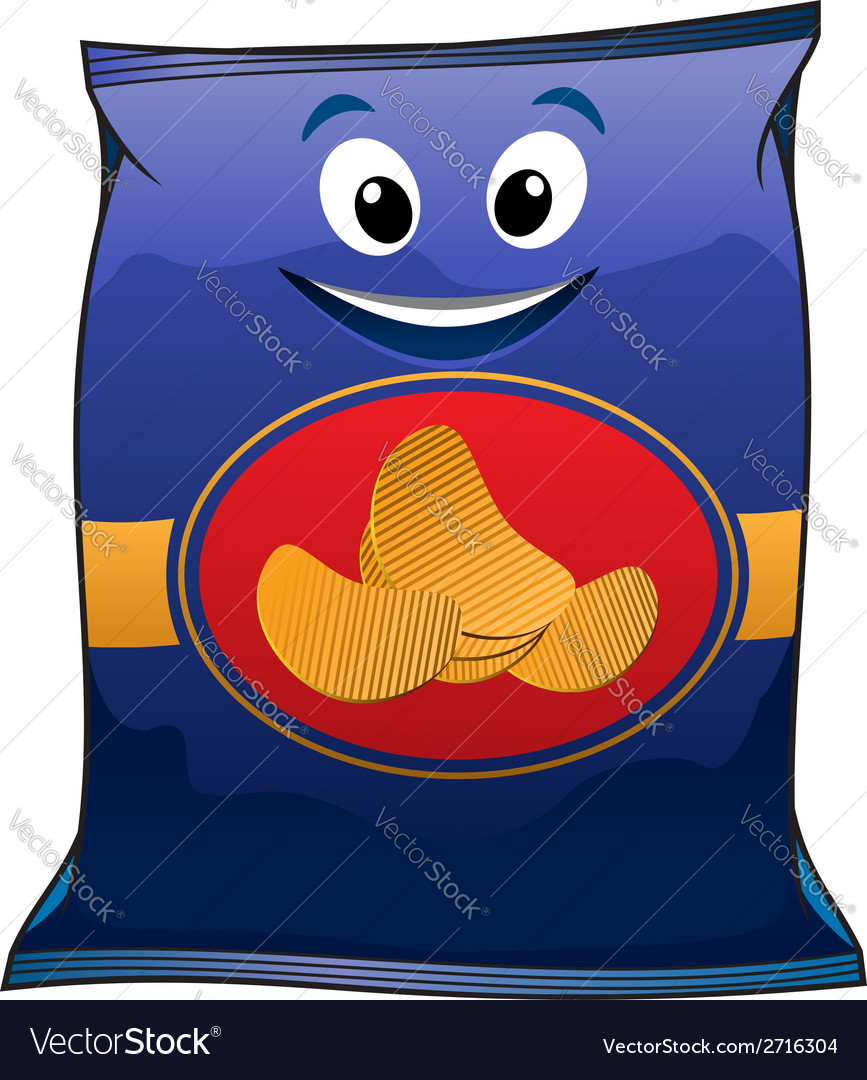 Cartoon potato chips vector | Price: 1 Credit (USD $1)