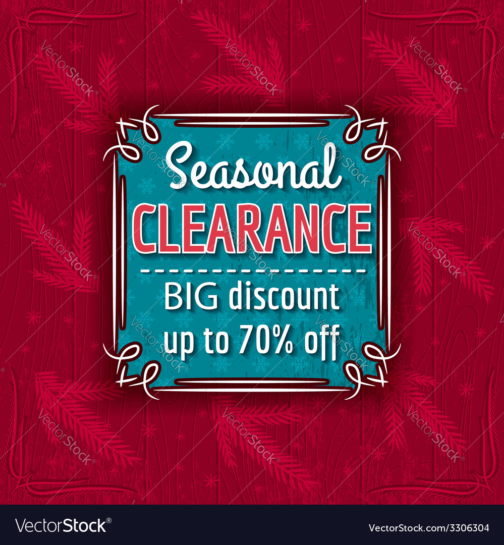Christmas background and sale offer label vector | Price: 1 Credit (USD $1)